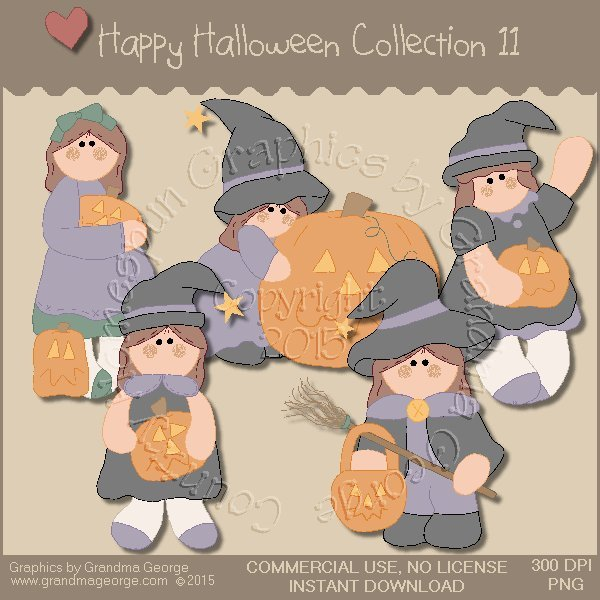Happy Halloween Graphics Collection Vol. 11