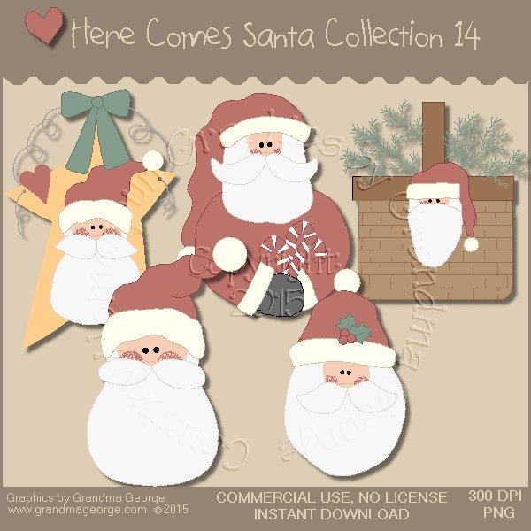 Here Comes Santa Country Graphics Vol. 14