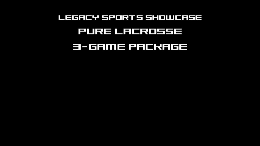 PURE LACROSSE 3 GAME PACKAGE