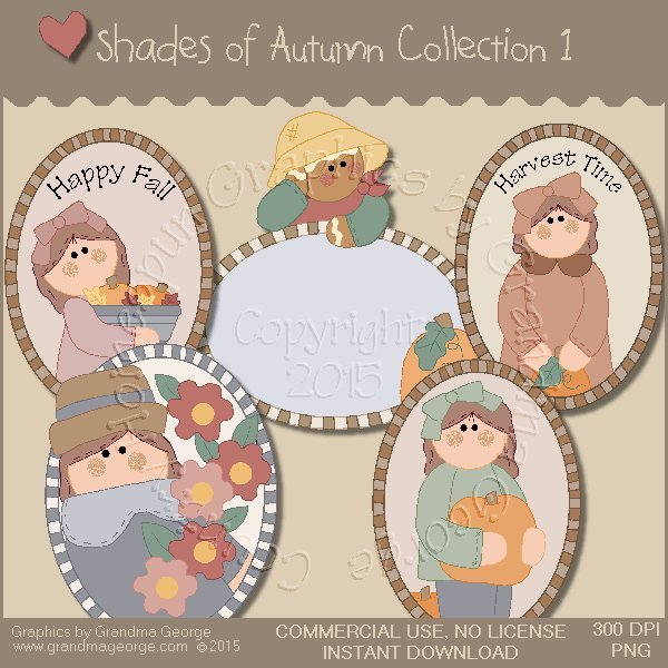 Shades of Autumn Graphics Collection Vol. 1