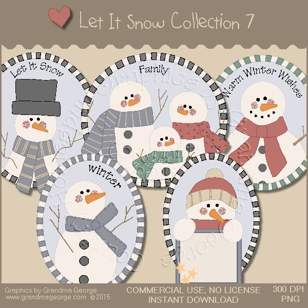 Let It Snow Country Graphics Collection Vol. 7