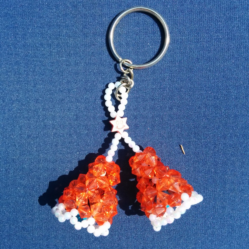 Beaded Bell Keychain