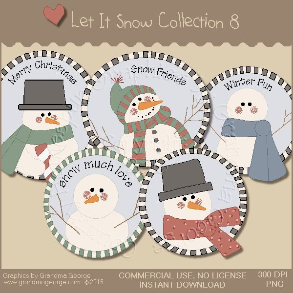 Let It Snow Country Graphics Collection Vol. 8