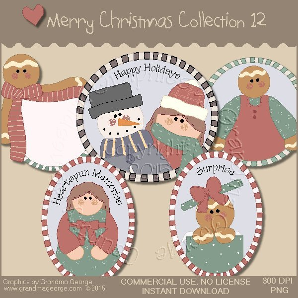 Merry Christmas Graphics Collection Vol. 12