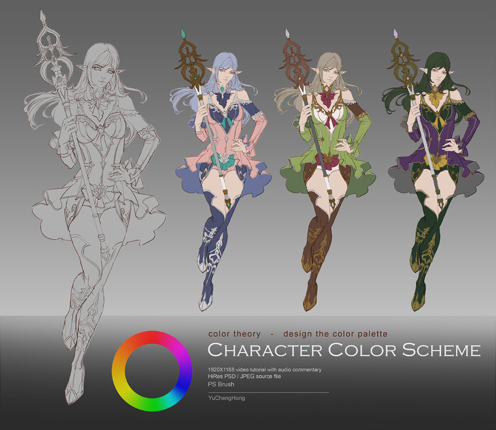 Character Color Scheme