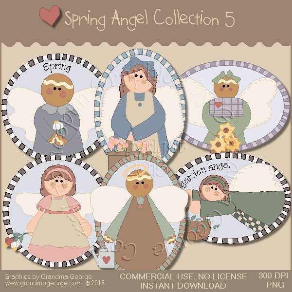 Spring Angel Graphics Collection Vol. 5