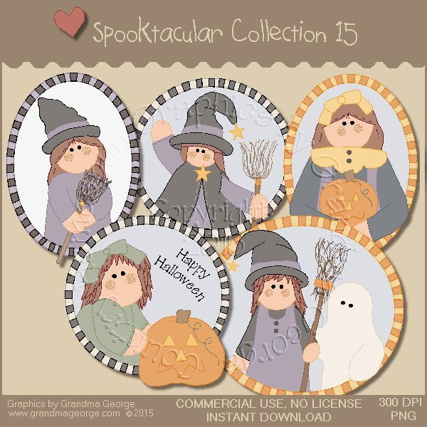 Spooktacular Halloween Graphics Collection Vol. 15