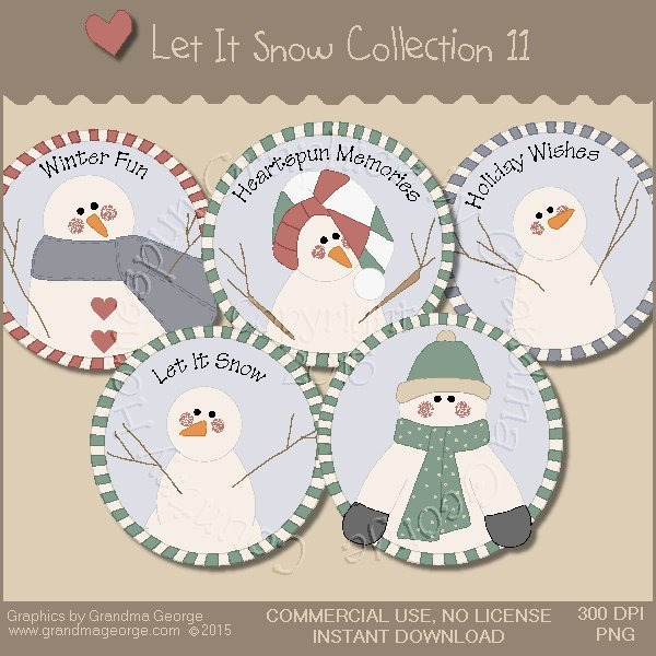 Let It Snow Country Graphics Collection Vol. 11