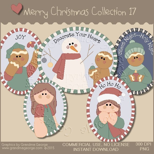 Merry Christmas Graphics Collection Vol. 17