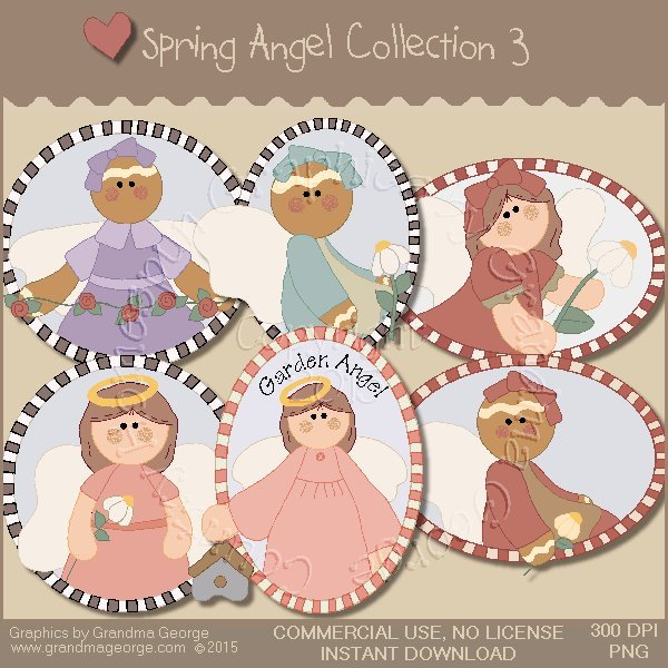 Spring Angel Graphics Collection Vol. 3