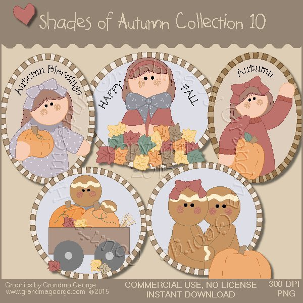 Shades of Autumn Graphics Collection Vol. 10