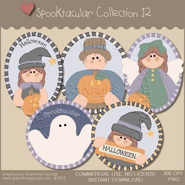 Spooktacular Halloween Graphics Collection Vol. 12
