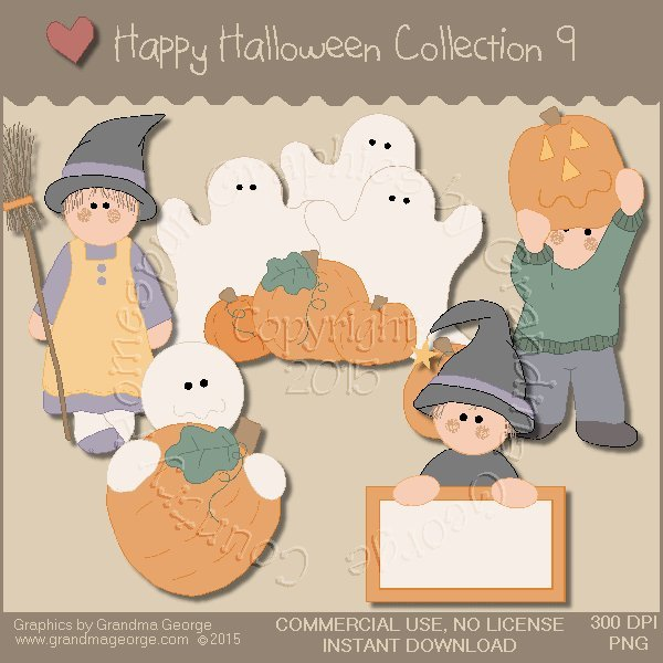 Happy Halloween Graphics Collection Vol. 9
