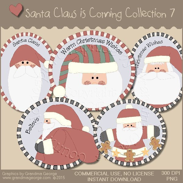 Santa Claus is Coming Country Graphics Vol.7
