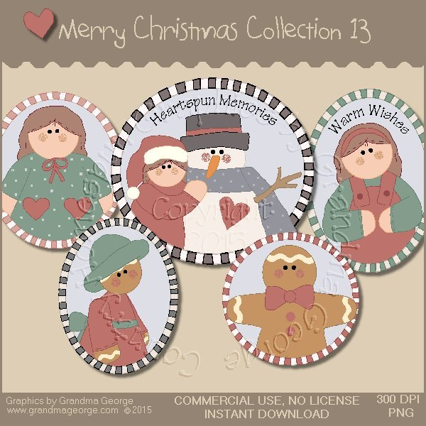 Merry Christmas Graphics Collection Vol. 13