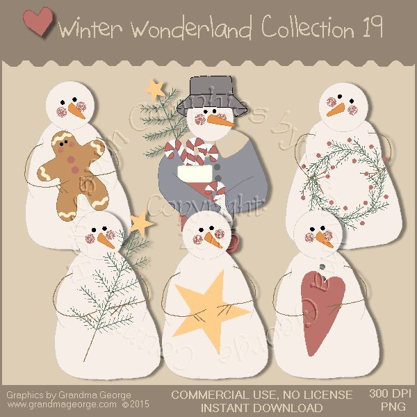 Winter Wonderland Country Graphics Collection Vol. 19