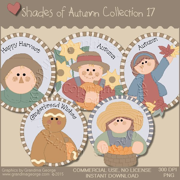 Shades of Autumn Graphics Collection Vol. 17
