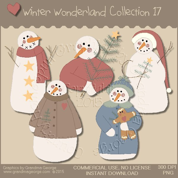 Winter Wonderland Country Graphics Collection Vol. 17