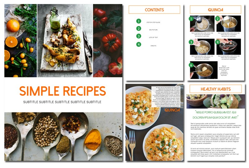 Recipe eBook Template - Martha