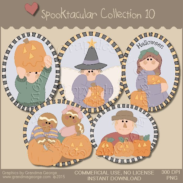 Spooktacular Halloween Graphics Collection Vol. 10