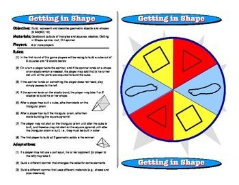Getting in Shape: Geometry Math Games