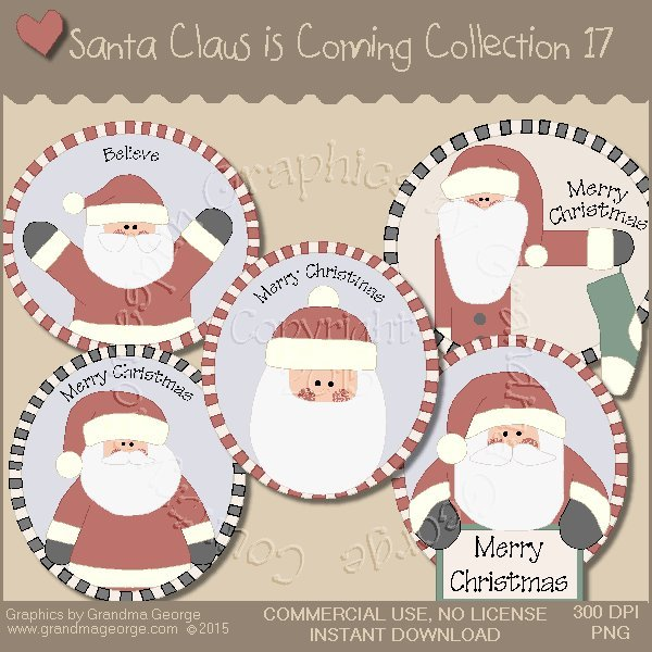 Santa Claus is Coming Country Graphics Vol.17