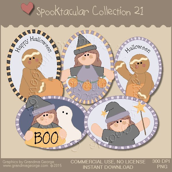 Spooktacular Halloween Graphics Collection Vol. 21