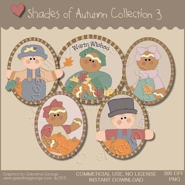 Shades of Autumn Graphics Collection Vol. 3