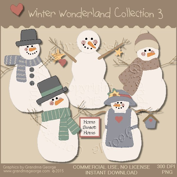 Winter Wonderland Country Graphics Collection Vol. 3