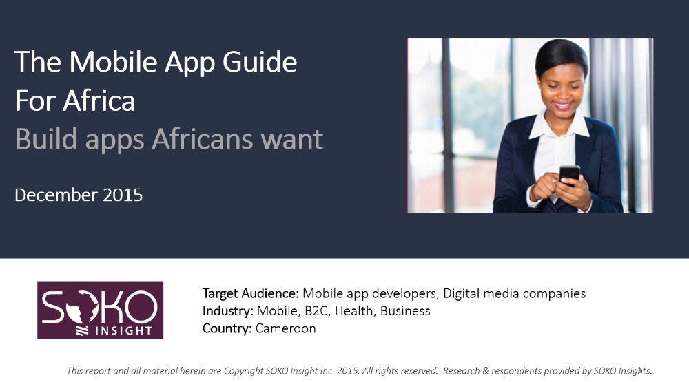 Mobile App Guide for Africa (Cameroon)