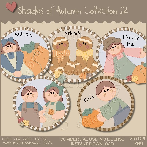 Shades of Autumn Graphics Collection Vol. 12