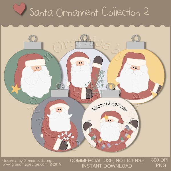 Santa Ornament Collection Vol. 2