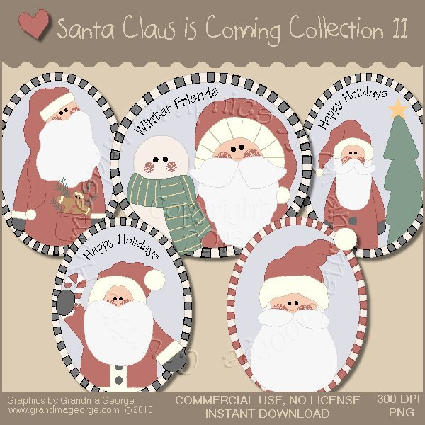 Santa Claus is Coming Country Graphics Vol. 11
