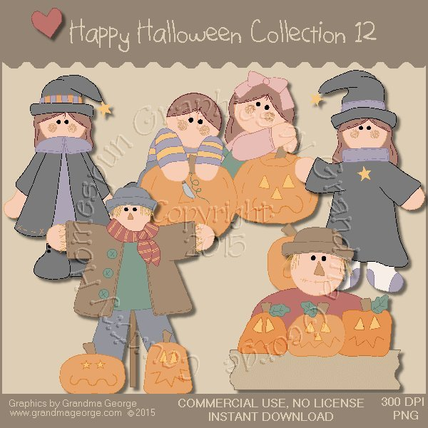 Happy Halloween Graphics Collection Vol. 12