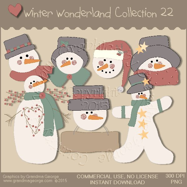 Winter Wonderland Country Graphics Collection Vol. 22