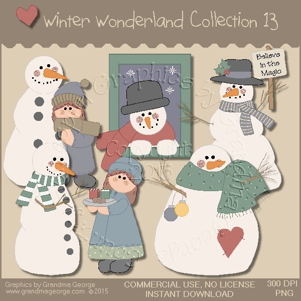 Winter Wonderland Country Graphics Collection Vol. 13