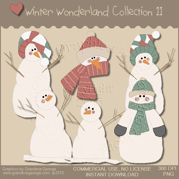 Winter Wonderland Country Graphics Collection Vol. 11