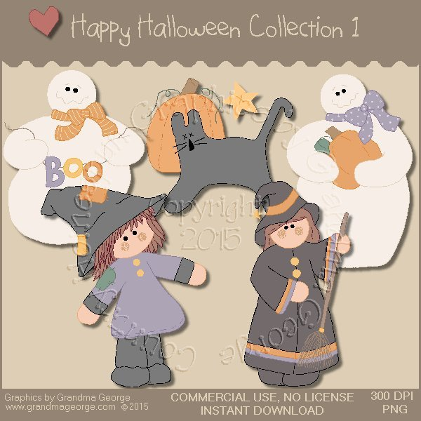Happy Halloween Graphics Collection Vol. 1