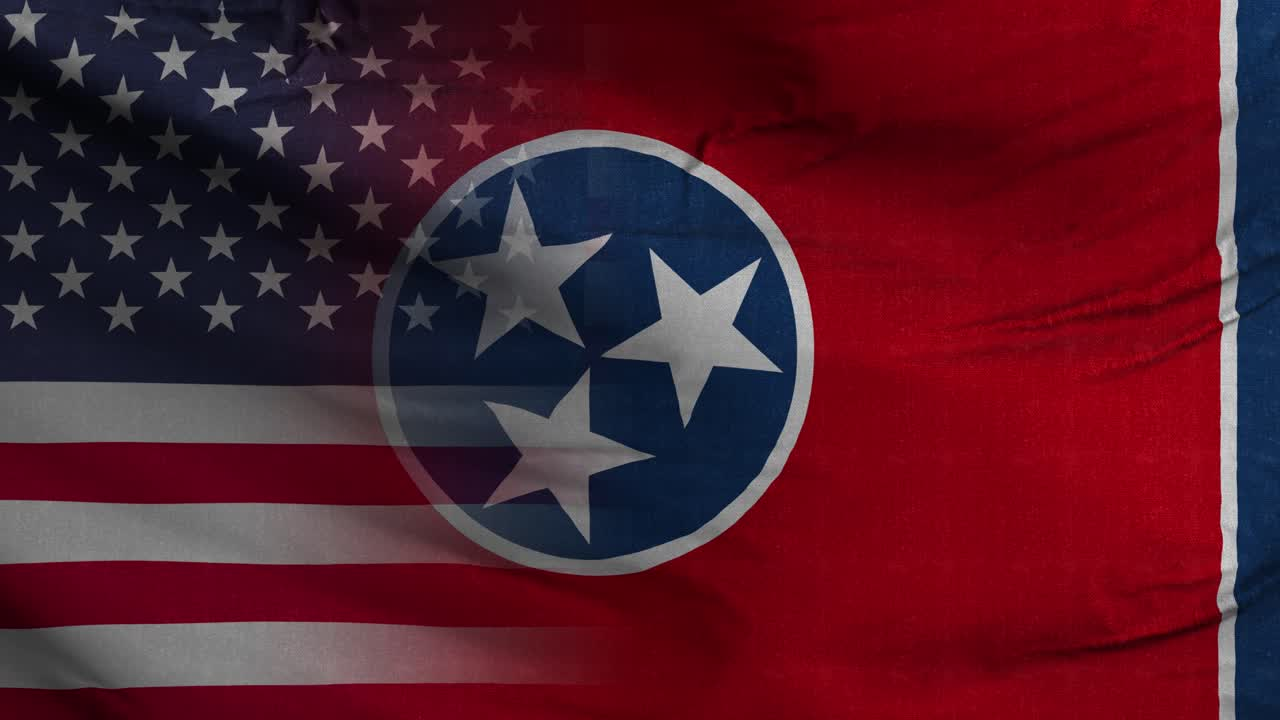 Tennessee State USA Mixed Flag 4K