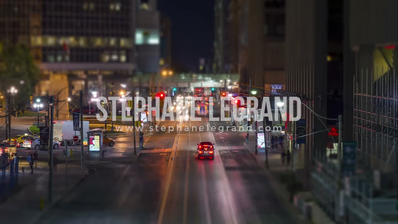 Toronto, Canada - Timelapse  - Queen Street at Night