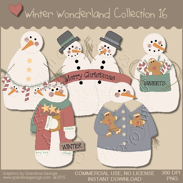 Winter Wonderland Country Graphics Collection Vol. 16