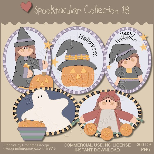 Spooktacular Halloween Graphics Collection Vol. 18