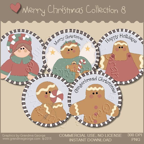 Merry Christmas Graphics Collection Vol. 8
