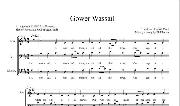 Gower Wassail: licensed for 21-30 singers