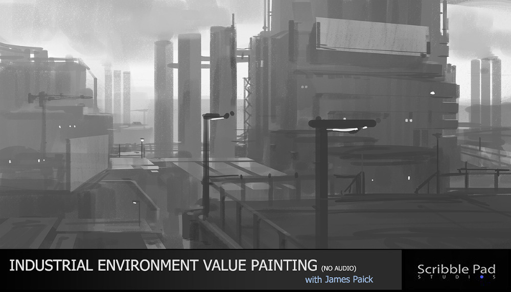 Industrial Environment Value Painting - (no audio)