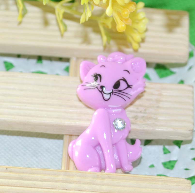 1 pc Cute Flat Back Resin Accent Piece for Crafting - cat