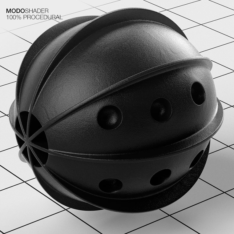 Modo Shader - Clean Black Plastic