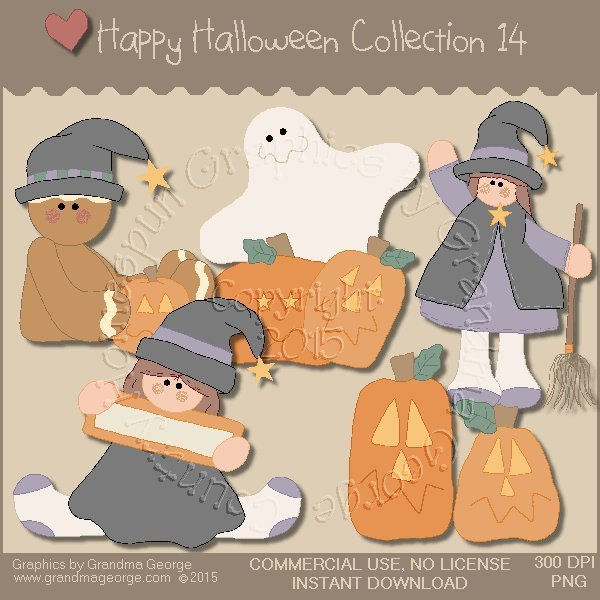 Happy Halloween Graphics Collection Vol. 14