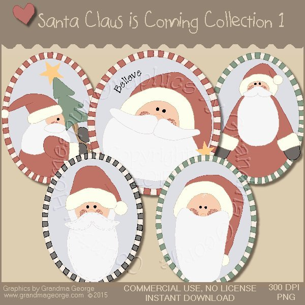 Santa Claus is Coming Country Graphics Vol.1