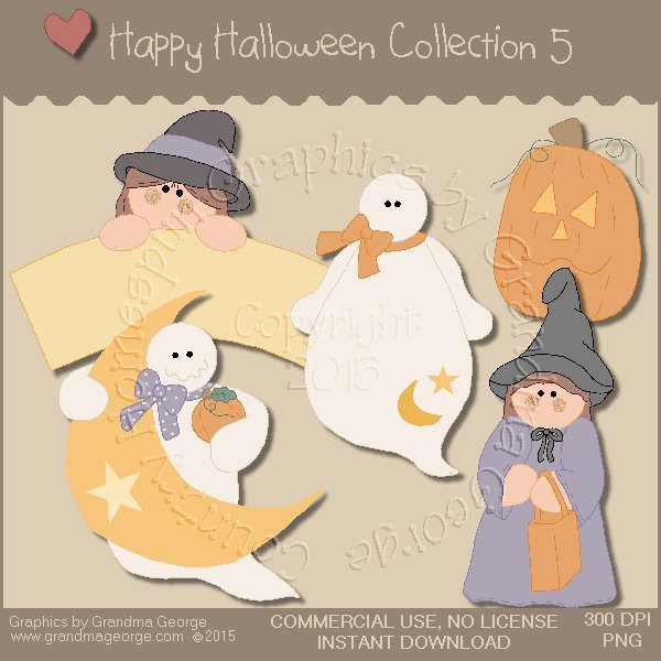 Happy Halloween Graphics Collection Vol. 5